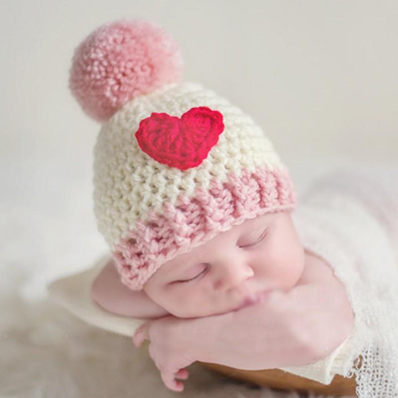 可爱婴儿手钩冷帽 - 小甜心